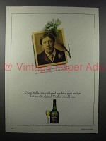 1986 Croft Original Sherry Ad - Oscar Wilde