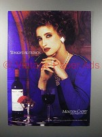 1987 Mouton-Cadet Wine Ad - Tonight, Be French