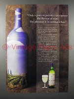 1987 Mouton-Cadet Wine Ad - Only a poet or painter