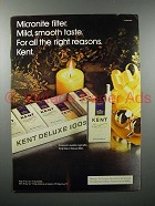 1973 Kent Cigarette Ad - For all the Right Reasons