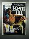 1983 Kent III Cigarette Ad - Know What Counts
