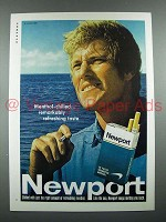 1970 Newport Cigarette Ad - Menthol-Chilled Taste