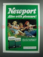 1976 Newport Cigarette Advertisement - Tug of War