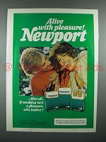 1976 Newport Cigarette Advertisement- Alive With Pleasure