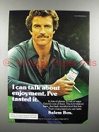 1976 Salem Cigarette Ad - Talk About Enjoyment