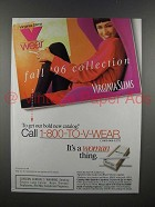 1996 Virginia Slims Cigarette Ad - Fall Collection