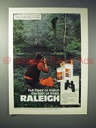 1975 Raleigh Cigarette Ad - Full Flavor to Match