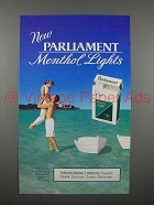 1996 Parliament Menthol Lights Cigarette Ad