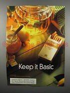 1999 Basic Cigarette Advertisement