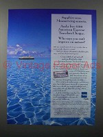 1996 American Express Travelers Cheque Ad