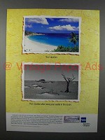 1996 American Express Travelers Cheque Ad - Your Vacation