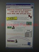 1997 American Express Card Ad - Hear More, Applaud More