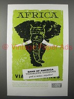 1957 Bank of America Travelers Cheques Ad - Africa