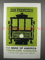 1958 Bank of America Travelers Cheque Ad, San Francisco