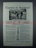 1931 Metropolitan Life Insurance Ad - Accident?