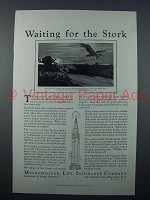 1931 Metropolitan Life Insurance Ad - Waiting For Stork