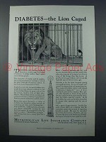 1933 Metropolitan Life Insurance Ad - The Lion Caged