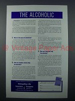 1951 Metropolitan Life Insurance Ad - The Alcoholic
