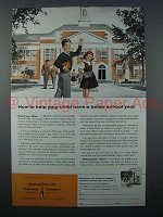 1957 Metropolitan Life Insurance Ad - Help Your Child