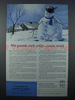 1959 Metropolitan Life Insurance Ad - Pounds Melt Away