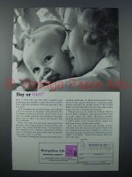 1961 Metropolitan Life Insurance Ad - Boy or Girl?