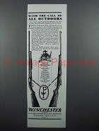 1929 Winchester Model 12 Shotgun, Model 54 Rifle Ad