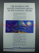 1989 Prudential Life Insurance Ad - Any Climate