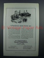 1923 Equitable Trust Company Bank Ad - Business Man