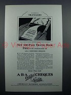 1927 ABA Travelers Cheques Ad - Of Interest