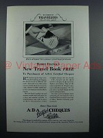 1927 ABA Travelers Cheques Ad - Of Interest to Travelers