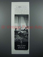 1934 Waldorf Astoria Hotel Ad - Active Women Like