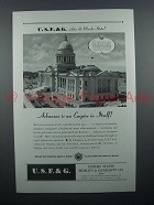 1945 USF&G Insurance Ad - Wonder State, Arkansas
