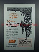 1953 America Fore Insurance Ad - 50 Thousand Men