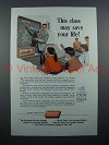 1954 America Fore Insurance Ad - May Save Your Life