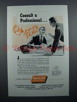 1954 America Fore Insurance Ad - Consult a Professional