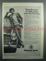 1973 Midland Bank Ad - Your First Car