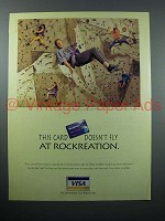 1996 VISA Credit Card Ad - Doesn't Fly at Rockreation