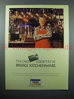 1996 VISA Credit Card Ad - at Bridge Kitchenware