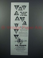 1957 Air France Ad - More and More Americans Fly