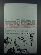 1958 Air France Ad  - The 12:10 is on Time