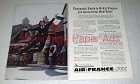 1960 Air France Ad - Paris Is 6 1/2 Hours from New York