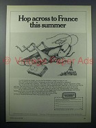 1978 Air France Ad - Hop Across to France this Summer