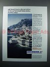 1987 Air France Ad - Spa Vacation, Monte Carlo