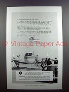 1959 Grumman Gulfstream Aircraft Ad - Chief Pilots