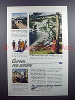 1947 Pan American World Airways Ad - Clipper for Europe