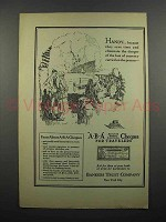 1922 ABA Travelers Cheques Ad - Handy