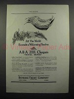 1923 ABA Travelers Cheques As - Welcoming Hand
