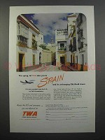 1951 TWA Airline Ad - Take You To Spain
