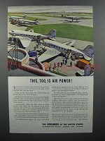 1943 Airlines of the United States Ad - Air Power