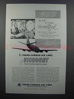 1955 TCA Airlines Viscount Ad - So Restful